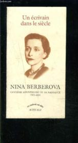 Brochure nina berberova - Couverture - Format classique