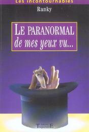 Paranormal De Mes Yeux Vu - Intérieur - Format classique