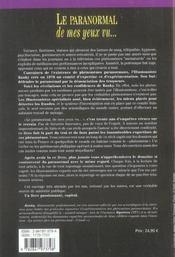 Paranormal De Mes Yeux Vu - 4ème de couverture - Format classique