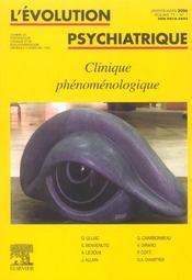 L'Evolution Psychiatrique (200 - Ev061 - Intérieur - Format classique