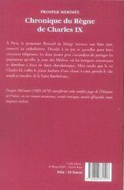 Chronique du règne de charles IX - 4ème de couverture - Format classique