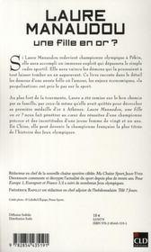 Laure Manaudou, Une Fille En Or ? - 4ème de couverture - Format classique