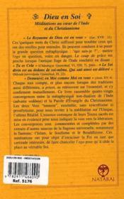Dieu en soi ; méditation au coeur de l'Inde et du christianisme (2e édition) - 4ème de couverture - Format classique