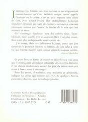 Ombrages Fabuleux - 4ème de couverture - Format classique