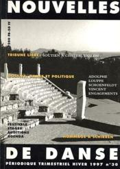 Nouvelles De Danse N.30 ; Danse Et Politique - Couverture - Format classique