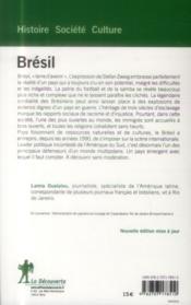 Brésil - 4ème de couverture - Format classique