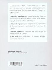 Tibulle Elegies Livre I - 4ème de couverture - Format classique