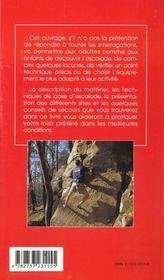 Decouverte et pratique de l'escalade - 4ème de couverture - Format classique