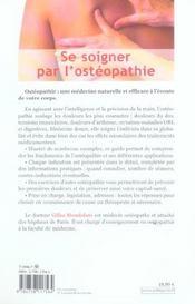 Se Soigner Par L'Osteopathie - 4ème de couverture - Format classique
