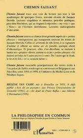 Chemin Faisant Avec Jacques Derrida - 4ème de couverture - Format classique