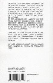 Fin De Chasse - Rn N 289 - 4ème de couverture - Format classique