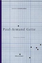Paul-Armand Gette - Couverture - Format classique