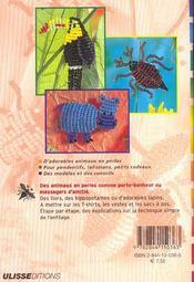 P'Tites Betes En Perles - 4ème de couverture - Format classique