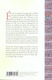 Un Long Moyen Age - 4ème de couverture - Format classique