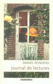 Journal de lectures  - Daniel Rondeau