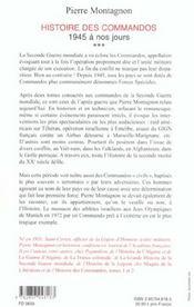 Histoire des commandos t.3 ; 1945 a nos jours - 4ème de couverture - Format classique