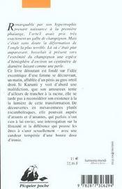 Pénis d'orteil - 4ème de couverture - Format classique