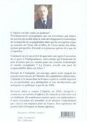 Victoire Volee ; Le Malheur Algerien - 4ème de couverture - Format classique