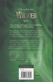 Wicked - Wicked Years - 4ème de couverture - Format classique