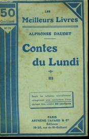 Contes Du Lundi. Tome 3. Collection : Les Meilleurs Livres N° 71. - Couverture - Format classique