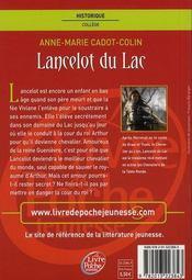 Lancelot du Lac - 4ème de couverture - Format classique