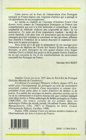 Les Portugais en France et leur mouvement associatif, 1901-1986 - 4ème de couverture - Format classique