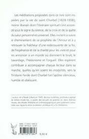 Saint Charbel, Le Prophete De L'Amour - Le Silence, La Croix Et Le Salut - 4ème de couverture - Format classique