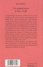 Un Appartement A New York (1ere Ed) - 4ème de couverture - Format classique