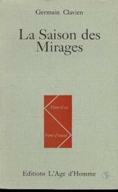 La Saison Des Mirages - Couverture - Format classique