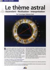 Petit Guide T.144 ; Le Thème Astral - Intérieur - Format classique