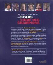 Les Stars De La Ligue Des Champions - 4ème de couverture - Format classique