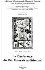La Renaissance du rite français traditionnel - Couverture - Format classique