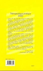 Thérapeutique pratique (édition 2000) - 4ème de couverture - Format classique