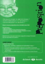 La préposition ; règles, exercices et corrigés (6e édition) - 4ème de couverture - Format classique