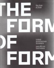Vente livre :  The form of form  - Tavares Andre