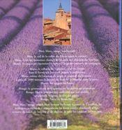 Les couleurs du vaucluse - 4ème de couverture - Format classique