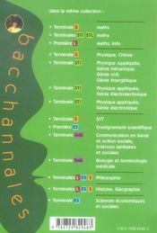Bacchannales ; Mathématiques/Sciences-Physiques ; Bac Pro Industriel ; Annales Corrigées 2002-2005 - 4ème de couverture - Format classique