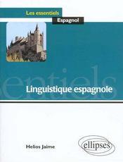 Linguistique Espagnole - Intérieur - Format classique