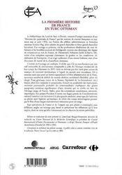 La Premiere Histoire De France En Turc Ottoman ; Chroniques Des Padichahs De France - 4ème de couverture - Format classique