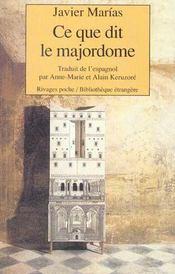 Ce Que Dit Le Majordome - Intérieur - Format classique