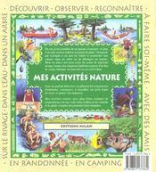 Mes activites natures - 4ème de couverture - Format classique