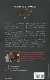 Inca - Tome 2 - L'Or De Cuzco - 4ème de couverture - Format classique
