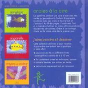 Craies A La Cire - 4ème de couverture - Format classique