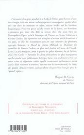 Sous Le Ciel De L'Opera - 4ème de couverture - Format classique