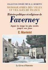 Faverney (Histoire De) - Couverture - Format classique