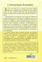 L'Armorique romaine - 4ème de couverture - Format classique