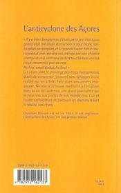 L'Anticyclone Des Acores - 4ème de couverture - Format classique