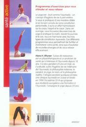 L'equilibre par le yoga - 4ème de couverture - Format classique