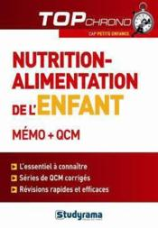 Nutrition-alimentation de l'enfant ; mémo et QCM - Couverture - Format classique