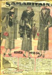 Catalogue. La Samaritaine. Paris. Hiver 1933-1934 - Couverture - Format classique